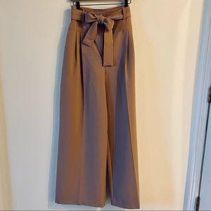 Darling wide leg pants with tie belt